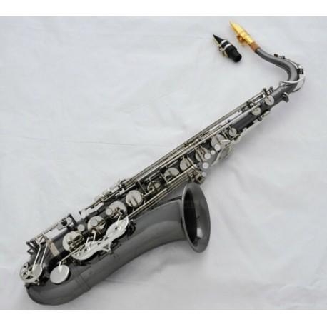 Professional Black Silver Nickel Tenor sax Saxophone High F# + Metal Mouthpiece