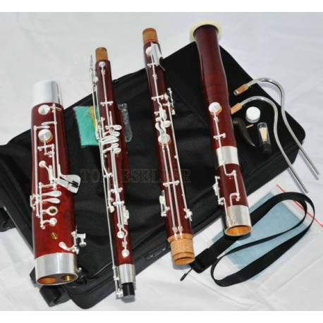Professional old Maple Bassoon Heckel system High D E Silver key With Case