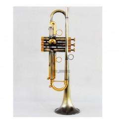 Customized Antique bronze Trumpet Professional Bb Horn Monel Valves Pro.Case