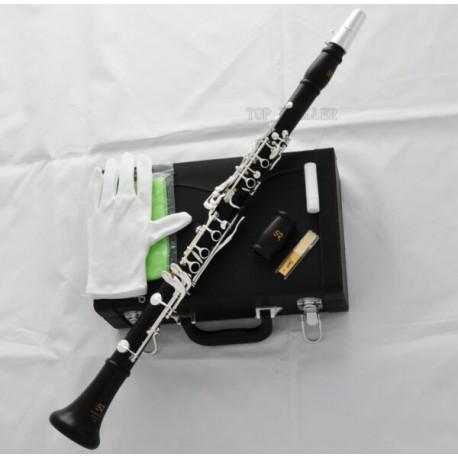 Concert Professional 17 Key A Clarinet Ebony Wooden Material 2 barrels W/case