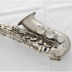 Pro Matte Nickel Alto Saxophone Sax High Pitch D,#D Height adjustable of F key