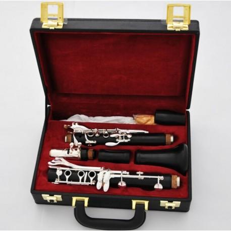 Professional 18 Key A Clarinet Ebony Wooden Body Italian Pads Case