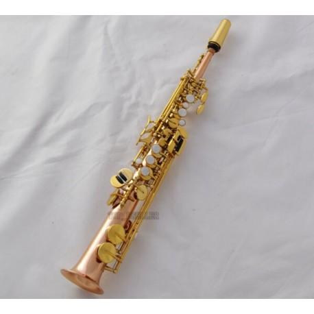 Professional Rose Brass Eb Sopranino saxopohone Sax Low B high E Italian pad