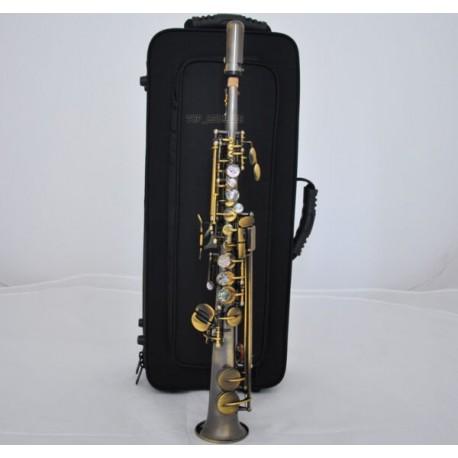 Professional Antique Eb Sopranino Saxophone Abalone Shell Low Bb High E sax
