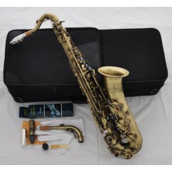 Professional Antique C Melody Saxophone Abalone Key 2 Neck + Sax Metal Mouthpiece