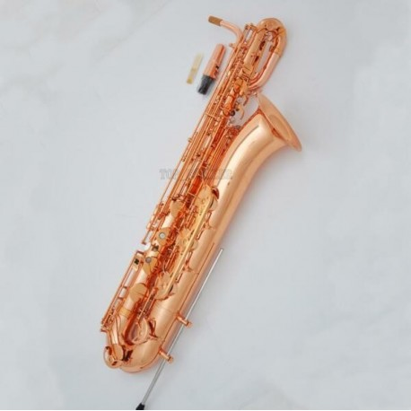 Professional Rose Gold Plating Baritone Saxophone Bari Support Eb Sax Case