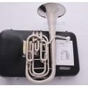 Superbrass Pro. Silver Nickel Compensating Baritone horn Bb key 3 Valves Hard Case
