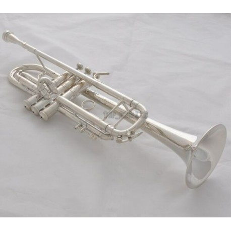 Professional Silver Plated Trumpet Superbrass Brand horn Monel Valves With Case