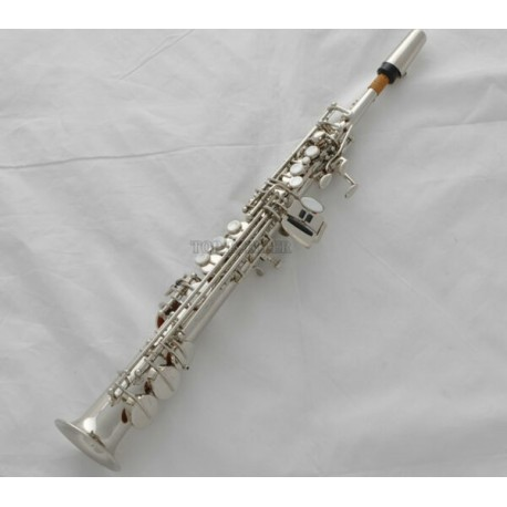 Professional Silver Nickel Sopranino Saxophone sax Eb Low Bb high F With Case
