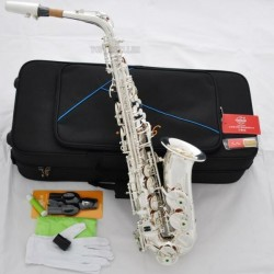 Professional Silver Plating Alto Saxophone Superbrass E-Flat sax With Case
