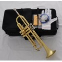 TOP New Matt Brass Trumpet Horn B-Flat Tone 4-7/8''Bell 0.459''Bore Wtih Case