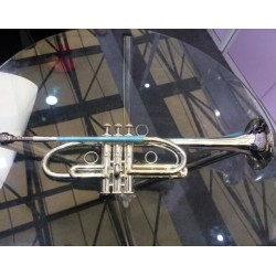 Streamline design Professional C Key Trumpet Silver Horn Monel Valves With Case
