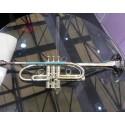 Streamline design Professional C Key Trumpet Silver Horn Monel Valves With Case