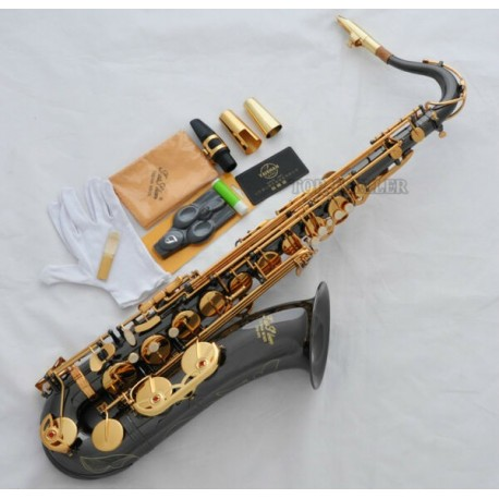 Professional Superbrass Black Nickel Tenor Sax Saxophone Free Metal Mouthpiece Case