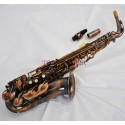 Professional Superbrass Alto Saxophone Red Antique Eb Sax High F# With case