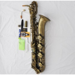 Latest Superbrass Baritone Saxophone Antique Bronze Bari SAX With ABALONE Key +Case