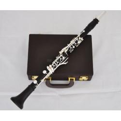 Professional Grenadilla Africa Black Wood Wooden Clarinet 18 Key Silver Case