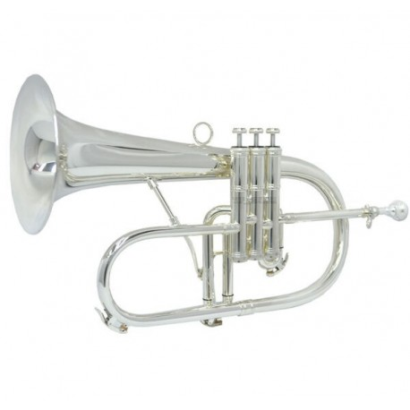 Silver Plated Professional Bb Flugelhorn Import copper 6-1/4'' Bell W/Case