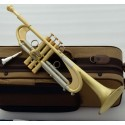 New Pro Germany Design Heavy Trumpet Brushed Brass Bb Reverse Leadpipe W/Case