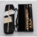 Professional Alto Flute Gold Plated Ebony Wooden G Key With Headjoint Case