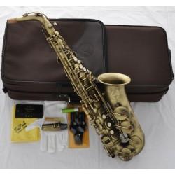 Professional Superbrass est Alto Saxophone Matte Antique Sax Eb High F# W/Case