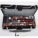 Professional Maple Wooden Bassoon Silver Plated Keys Case