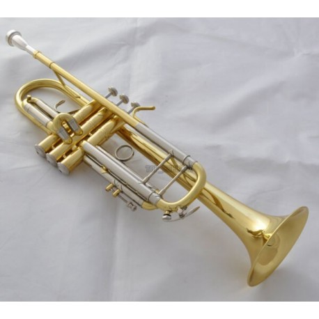 Professional Superbrass Bn Trumpet horn Clear Lacquer Finish Monel Valve With Case