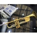 Professional Italy Designed Heavy Trumpet horn Matt Brushed Brass case