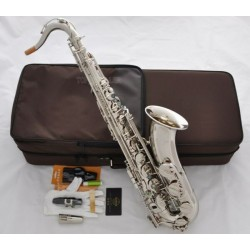Professional Superbrass Silver Nickel Tenor Saxophone Bb Sax Abalone Shell High F#