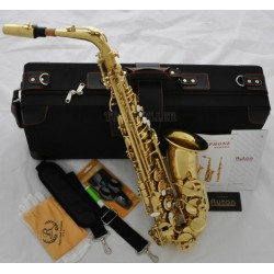 Professional USA Ryton Alto Saxophone Gold sax High F# Germany mouth Deluxe Case