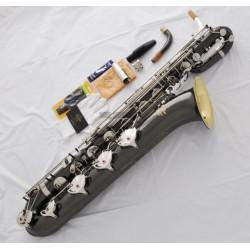 Superbrass Gold Bell Eb Baritone Saxophone Black nickel Silver Sax ABALONE Key