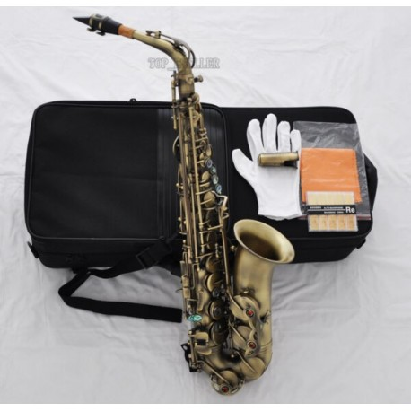 Professional Antique Alto Saxophone Eb Sax High F# Abalone Shell Keys with case