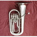 Professional Superbrass 4 Valve Euphonium Horn Silver nickel Plating 11.81'' Bell