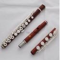 Professional Rose Wooden Mahler Flute Bb Foot 18 Open Holes In Line G Model