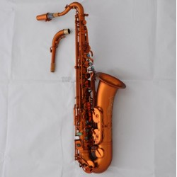 Professional Matte Coffee C Melody saxophone est Sax engraving Bell with case