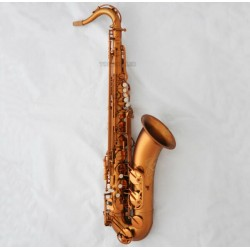 Professional Matte Coffee Tenor Saxophone Hand engraving Sax With Case