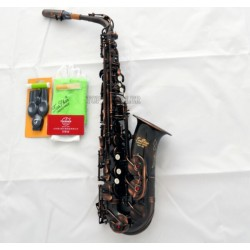 Professional Superbrass Eb Red Antique alto saxophone high F# Sax With case