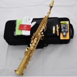 Professional yellow antique Soprano Saxophone Superbrass Straight Sax High F#