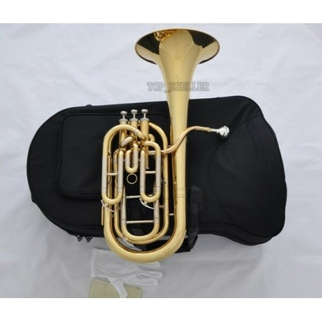 Professional Gold Superbrass Compensating Baritone horn Cupronickel tuning pipe