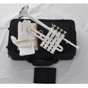 Professional Silver Plated Piccolo Trumpet Bb/A horn 4 Monel valves With Case