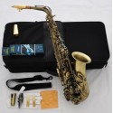 Professional Antique Bronze 54 Reference Eb Alto Saxophone Sax + Metal Mouthpiece