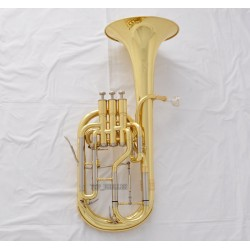 Pro Quality New Superbrass Gold Eb Alto Horn 3 Piston with Designer Case
