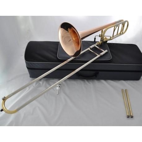 Professional Rose Brass Thayer Valve Trombone Bb/F Horn Cupronickel Slide +Case