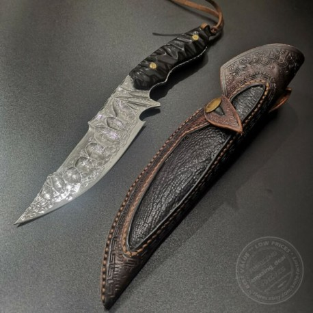 Japanese Damascus Vg10 Hunting Camping Knife Fixed Blade Rescue Knife Full Tang