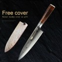 8'' Chef Knife Japanese Vg10 Damascus Stainless Steel Kitchen With Wood Sheath