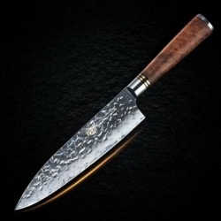 8'' Chef Knife Japanese Vg10 Damascus Stainless Steel Kitchen Knives Wood Handle