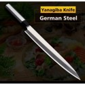 Sushi Sashimi Knife Yanagiba Japanese Style German 1.4116 Steel Salmon Aluminum