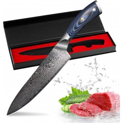 New Vg10 Chef Knife Damascus Stainless Steel Kitchen Knives Micarta Handle Sharp