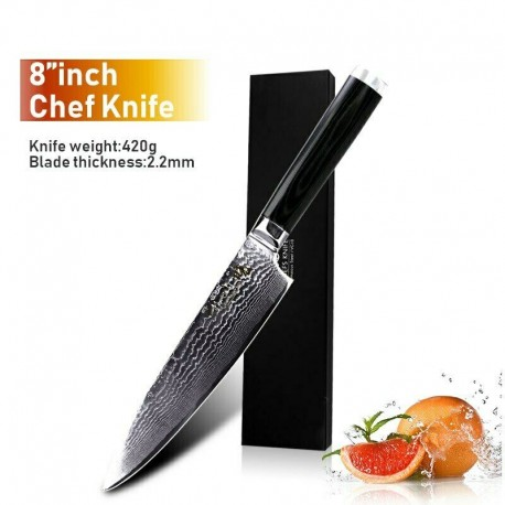 New 8'' Chef Knife Japanese Vg10 67-Layer Damascus Stainless Steel Kitchen Knife
