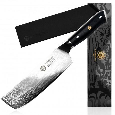 7'' Chef Knife Japanese Damascus Stainless Steel Nakiri Kitchen Knife Chopper